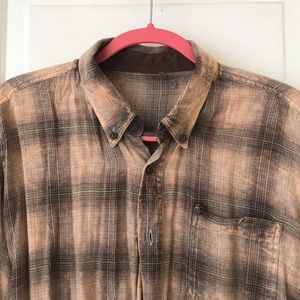 Brown Urban Outfitters Flannel